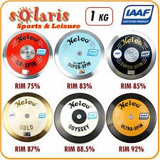 1x Nelco 1kg Discus IAAF Certified Athletics Competition Implement 75-93% Rim
