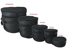 "Best Deal! Drum Bag Set for 12"" Tom, 13"" Tom, 14"" Snare, 16"" Floor Tom, 22"" Bass"