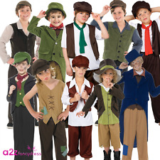 BOYS VICTORIAN URCHIN DICKENS BOOK DAY CHIMNEY SWEEP KIDS FANCY DRESS COSTUME