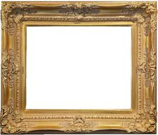 """4.5"""" WIDE Antique Premium Gold Leaf Ornate Oil Painting Wood Picture Frame 780G"""
