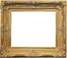 "4.5"" WIDE Antique Premium Gold Leaf Ornate Oil Painting Wood Picture Frame 780G"