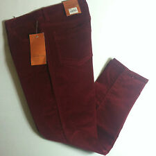 NWT Sonoma Women Modern Fit Cropped Slim Pants Red Sz.8 NEW Cotton/Spandex