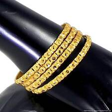 Gold Plated Bangles Bracelets Beautiful Classical Design Indian Fashion Jewelry