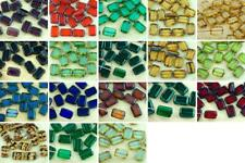 8pcs Table Cut Flat Rectangle Czech Glass Beads 8mm x 12mm