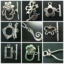 Wholesale Lot  Tibet Silver Bead Toggle Clasps For Jewelry Making