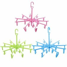New Hanging Dryer 20 Clips Pin Laundry Clothes Hanger Octopus Foldable OE