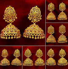 Goldplated Indian Bollywood Women Jhumka Earring Traditional Set Ethnic Jewelry