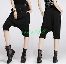 Summer Womens Harem Pants Loose Hip Hop Trousers Baggy Drop Crotch casual shorts