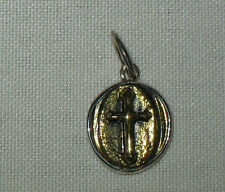 Waxing Poetic Sterling Silver & Brass Cross Charm, Small, Medium, Large