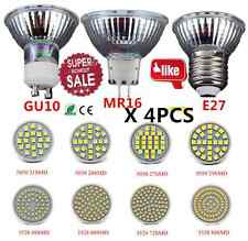 4PCS MR16/GU10/E27 48 60SMD 3528 LED Light Warm/Cool White Lamp Bulb Home 110V