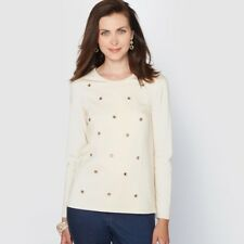 Womens Embellished Milano Knit Jumper/Sweater