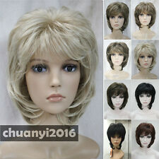 Short Curly Women Ladies Hair Daily 8 Colors Wigs Natural + a Free Wig Cap
