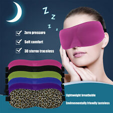 Soft Eye Mask Shade Ecellent Nap Cover Blindfold Sleeping Travel Rest HP