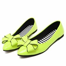 Women New Casual Autumn Style Pu Leather Fashion Pointed Toe Flats