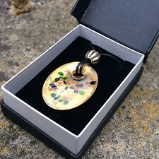 Murano Venetian glass pendant necklace gold leaf gift boxed Irish jewelry