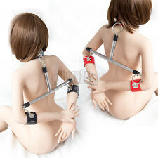 Lockable Spreader Bar Fetish Handcuff Wrist Cuffs Collar Fixation Neck Restraint