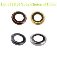 Lot of 10 x Rear Back Camera Lens Glass Ring Cover for iPhone 6 6g 6S 6 Plus USA
