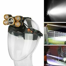 10000LM 5 LED T6 4 CREE XPE Rechargeable 18650 USB Headlamp Head Light Zoomable