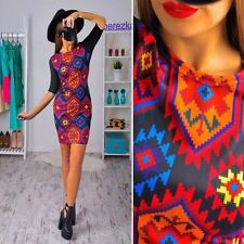 Women New Arrival Fashion Floral Printed Summer O-neck Half Sleeve Dress