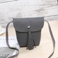 PU Leather Shoulder Mini Tassel Decorated Cross-body  Bag For Women