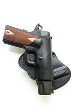 PADDLE LEATHER HOLSTER FOR DIAMONDBACK DB380 - BLACK/BROWN - RIGHT/LEFT
