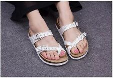Summer Fashion White Color Beach Wear Flat Slipper For Women