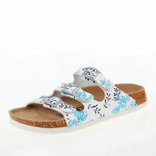 Spring Fashion Buckles Cork Material Mixed Color Casual Sandal For Women