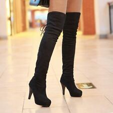 Women Stretch Over the Knee Thigh High New Fashion Plus Size High Heel Boots
