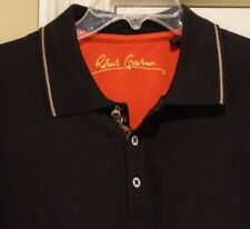 Robert Graham Graphic S/S Cotton Polo Men's Sz L LOOK!