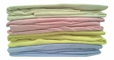 2 Pack Cotton Fitted Moses Basket Sheets 30 cm x 74 cm