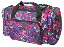 Purple Butterfly Womens Hand Luggage Cabin Bag Weekend Holdall Maternity Gym