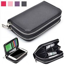 Luxury High Quality PU Double Zip Wallet Card Holder Case Cover For Nokia Phones