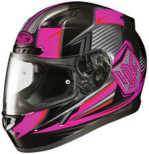HJC Adult CL-17 Striker Neon Pink/Black Full Face Motorcycle Helmet Snell DOT