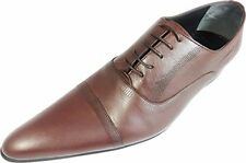 Original Chelsy - Italian Designer Business Lace up brown Calf leather