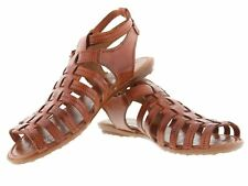 womens 547 gladiator buckle style leather huarache sandal ankle strappy brown