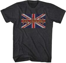 BRITISH FLAG Def Leppard English Rock Band Heavy Metal Hard Rock ADULT T-Shirt