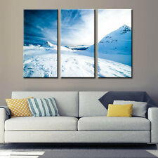 Snow Mountain Landscape Canvas Print Painting Poster Wall Art Home Decor White