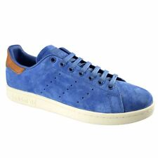 Adidas Stan Smith Blue Mens Lace Up Trainers Suede Leather