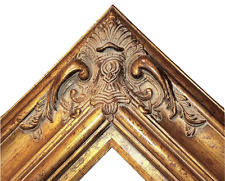"5.5"" WIDE Gold Leaf Ornate Antique Family Oil Painting Wood Picture Frame 620AG"