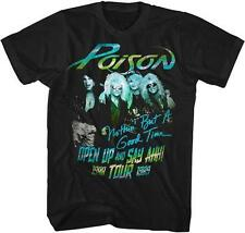 80's Good Time Open Up Tour Poison Glam Hair Metal Rock Band Licensed T-Shirt