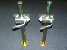 """Trailer Parts - Trailer Prop Stands Drop Leg 34mm x 18"""" with Clamps"""