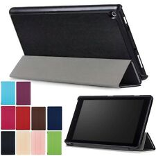 For Amazon Kindle New Fire HD8 2017 Tablet PU Leather Stand Flip Case Cover+Film