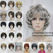 19 Colour Short Curly Women Ladies Sexy Natural Daily Hair Wigs + Free Wig Cap