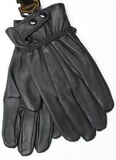 BLACK MEN'S LAMBSKIN LEATHER WINTER DRIVING EVERYDAY GLOVES LARGE SMALL