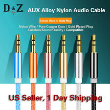 LOT 3FT 3.5mm AUX AUXILIARY CORD Male Male Stereo Audio Cable iPod MP3 CAR AUDIO