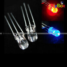 10/20/50/100/1000PCS 5mm Red Blue Bright 3Pin Water Clear bulb Led Common Anode