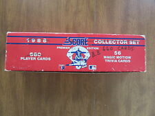 SCORE 1988 BASEBALL COLLECTOR SET 660 CARDS WITH 56 MOTION TRIVIA CARDS OPEN BOX