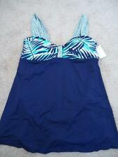 Anne Cole Navy Floral One Piece Swimdress Swimsuit New Plus Size 16W-22W