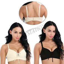 Sexy Womens Push Up Seamless Unlined Wirefree Padded Lace-up Brassiere Bras Hot