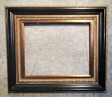 "5"" WIDE Fancy Black With Gold Oil Painting Wood Picture Frame 446AB"
